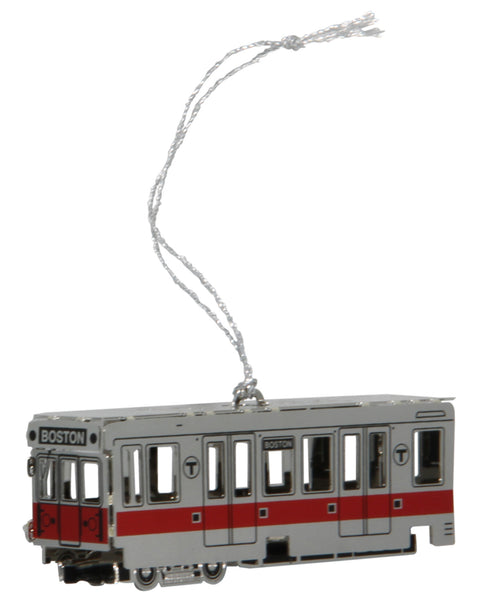 MBTA Red Line Subway Car Ornament