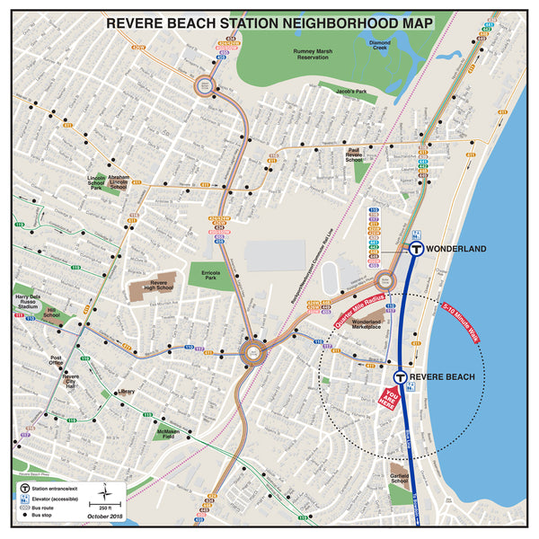 Revere Beach Station Neighborhood Map (October 2018)