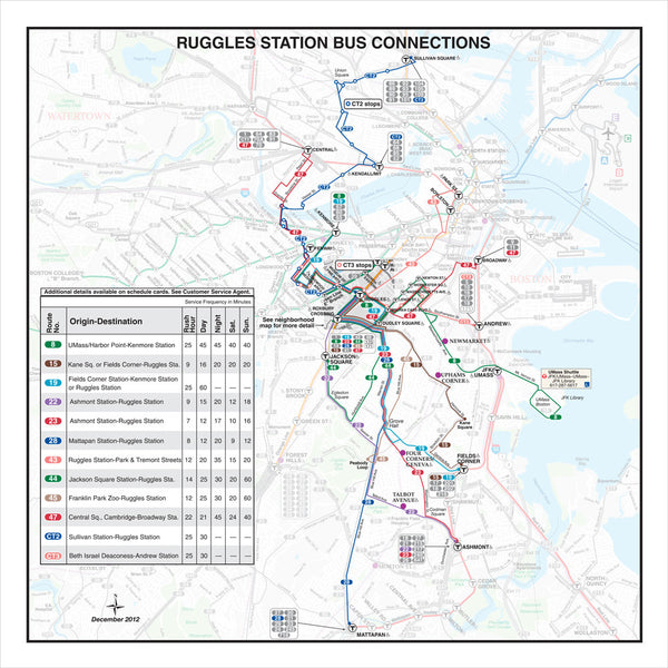 Ruggles Station Bus Connections (Dec. 2012)