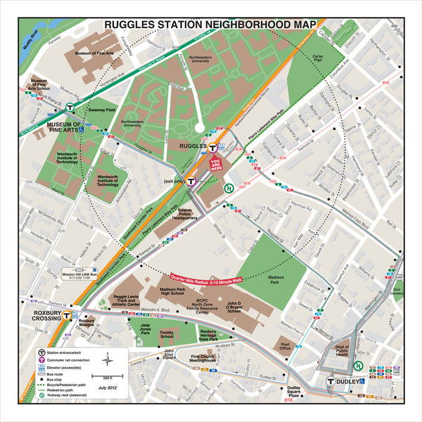 Ruggles Station Neighborhood Map (Jul. 2012)