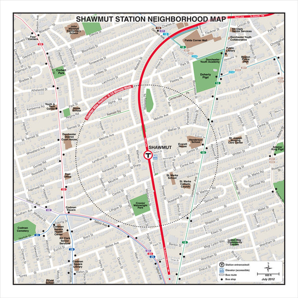 Shawmut Station Neighborhood Map (Jul 2012)