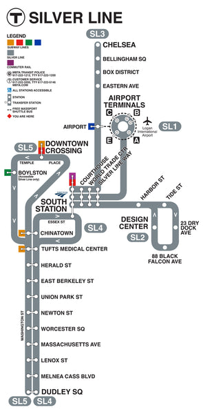 Silver Line Gateway Map (2018) Vertical Format
