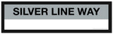 Choose a SILVER LINE Station Framed MBTA Station Sign (2 ft long)