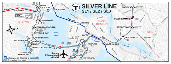 Silver Line Waterfront Map SL1/SL2/SL3