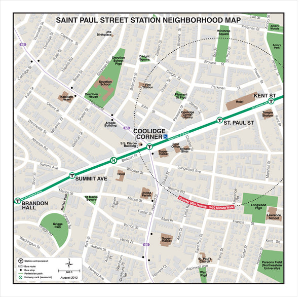 Saint Paul Street Station Neighborhood Map (Aug. 2012)