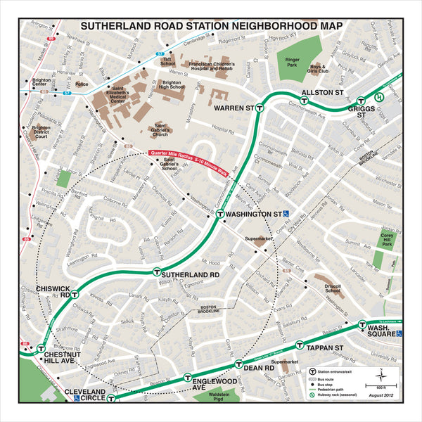 Sutherland Road Station Neighborhood Map (Aug. 2012)
