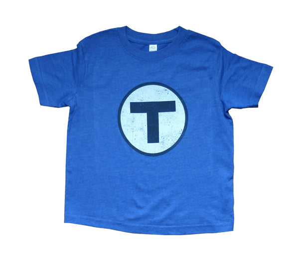 T Logo Blue T-Shirt (Toddler/Youth)