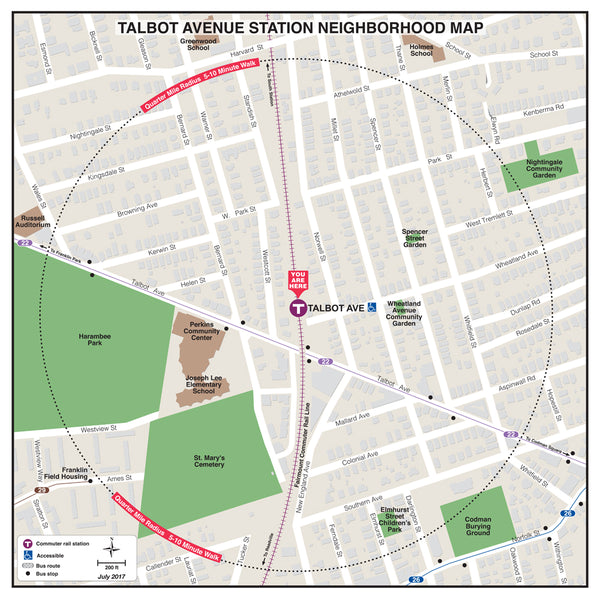 Talbot Avenue Station Neighborhood Map (July 2017)