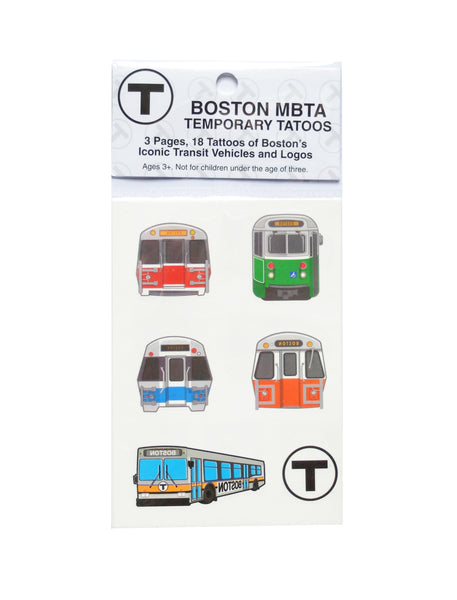 MBTA Temporary Tattoos Pack