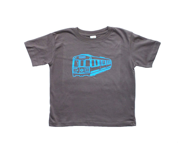 Blue Line Subway Car T-Shirt (Toddler/Youth)