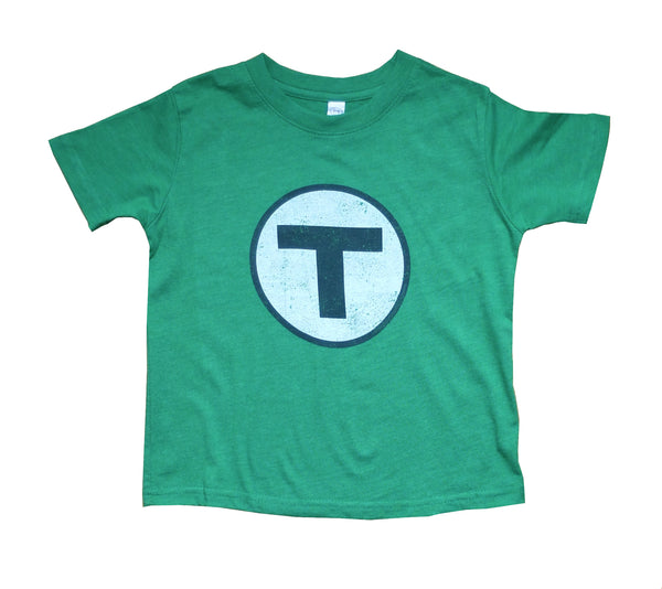 T Logo Green T-Shirt (Toddler/Youth)