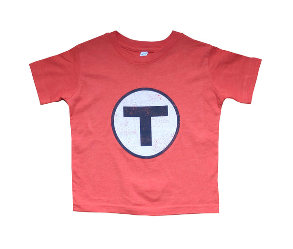T Logo Orange T-Shirt (Toddler/Youth)
