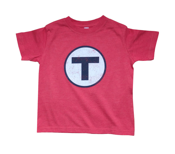 T Logo Red T-Shirt (Toddler/Youth)