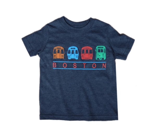 Boston MBTA Trains and Trolley T-Shirt (Toddler/Youth)