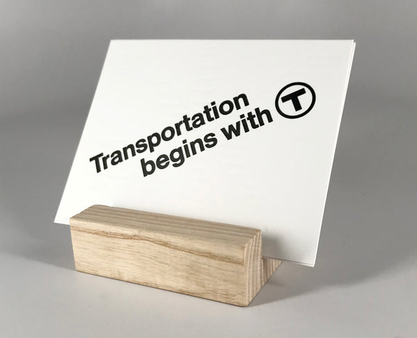 Transportation Begins with T Postcard