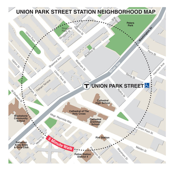 Union Park Street Station Neighborhood Map