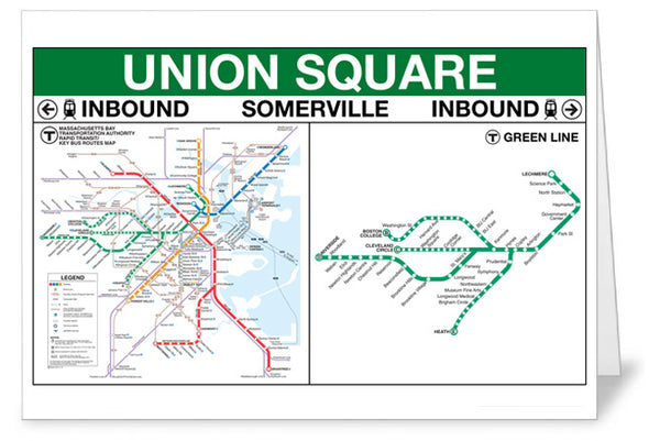 Union Sqaure Station Greeting Card