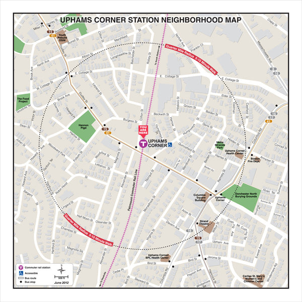 Uphams Corner Station Neighborhood Map (Jun. 2012)
