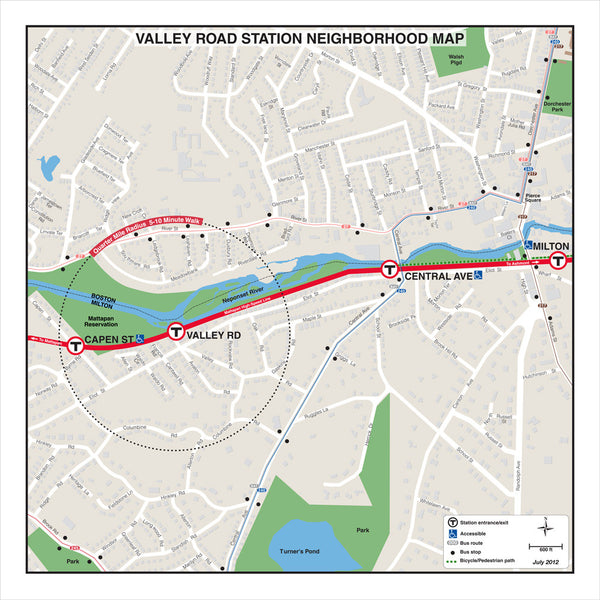 Valley Road Station Neighborhood Map (Jul 2012)