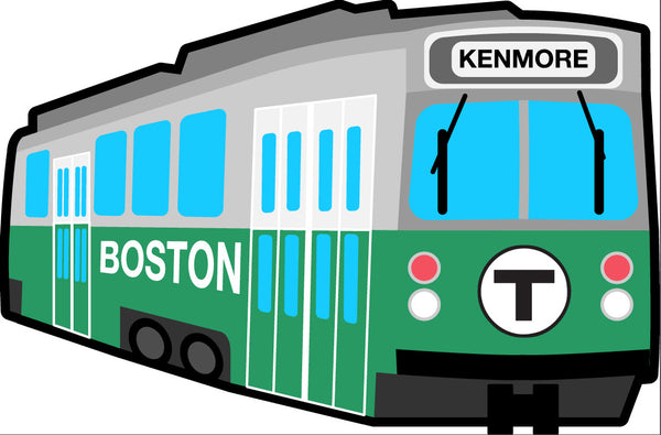 Green Line Trolley Sticker - Kenmore