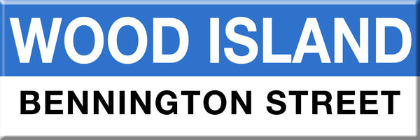 MBTA Blue Line Wood Island Station Magnet