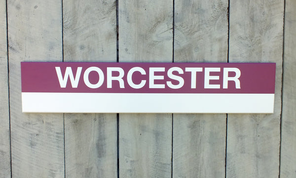 Commuter Rail South Station Stops 3' Wood Sign