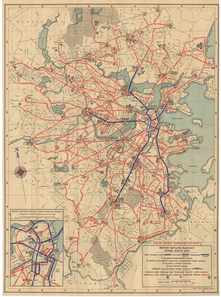 1938 BERy System Map No. 3