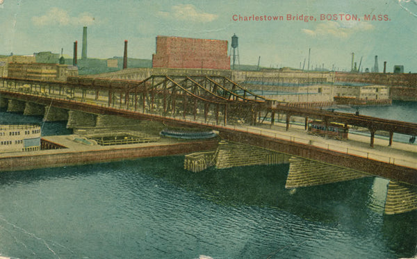 Charlestown Bridge with Streetcar