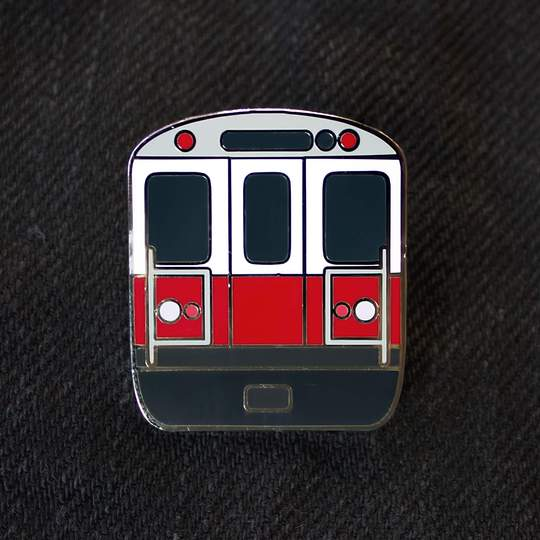 MBTA Red Line Enamel Pin