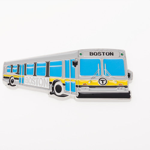 MBTA Boston Bus Metal Magnet