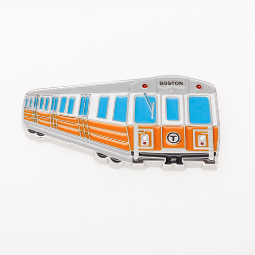 MBTA Orange Line Subway Car Metal Magnet