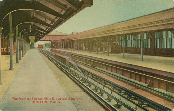 Platform at Forest Hills Elevated Station