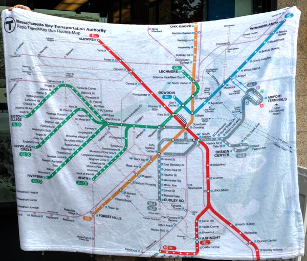 MBTA Map Plush Blanket