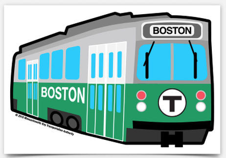 Green Line Trolley Sticker