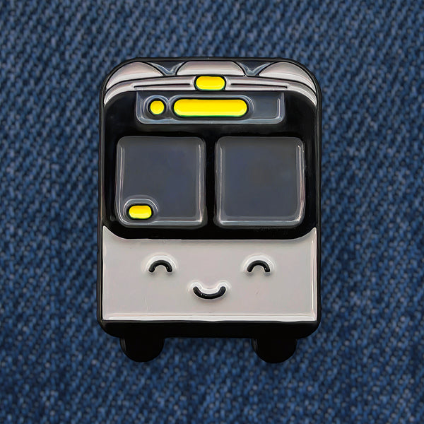 Bus Line Enamel Pin