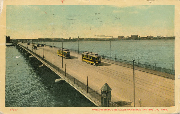 Harvard Bridge with Streetcars
