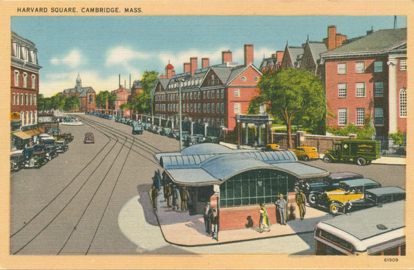 Harvard Square showing Streetcars