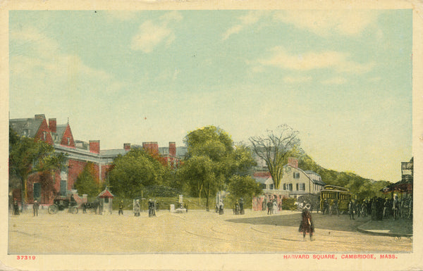 Harvard Square showing Streetcar