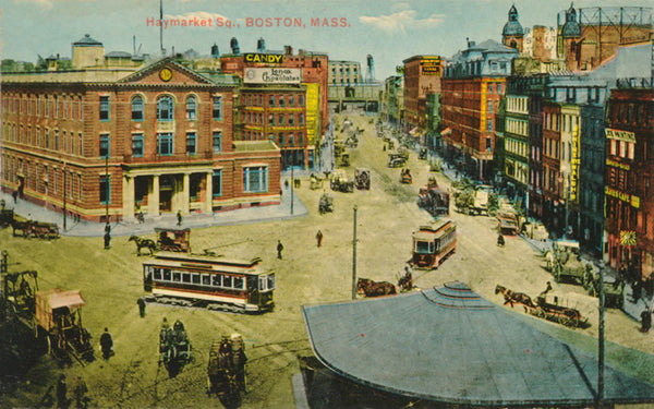 Haymarket Square with Streetcars
