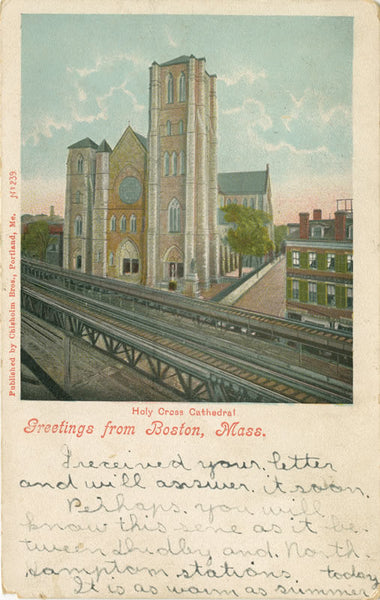 Holy Cross Cathedral with Washington Street Elevated