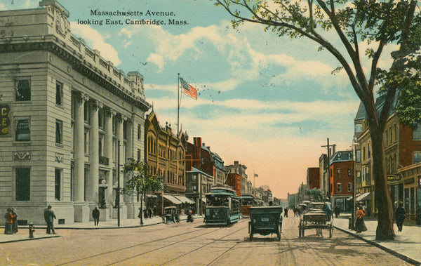 Massachusetts Avenue, Cambridge, Looking East