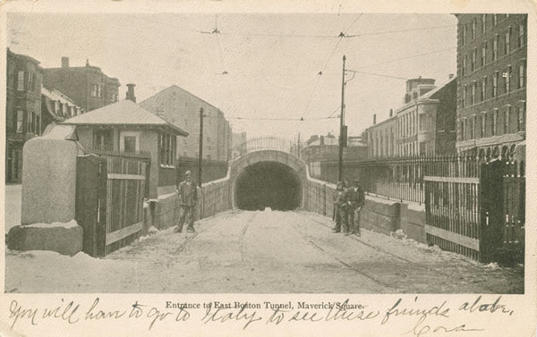 Entrance to East Boston Tunnel from Maverick Square