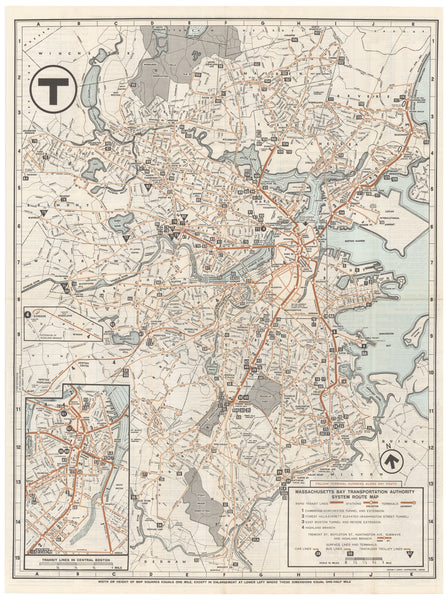 1965 MBTA System Map Fine Art Print