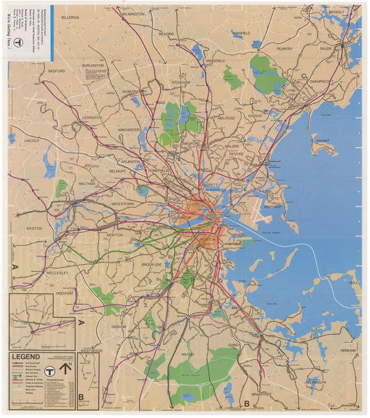 1976 (Fall) MBTA System Map