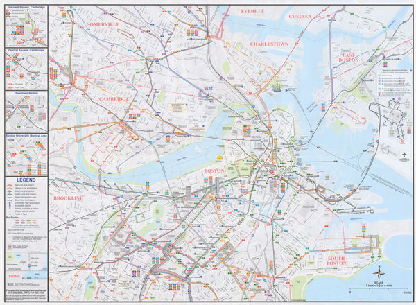 2011 Boston System Map (Back)