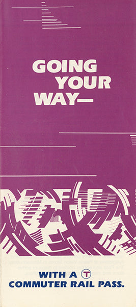 "MBTA ""Going Your Way"" Commuter Rail Brochure Cover 1983"