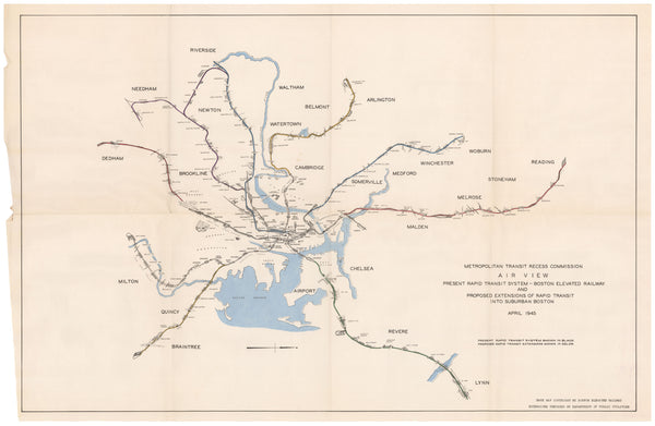 1945 Rapid Transit Expansion Map