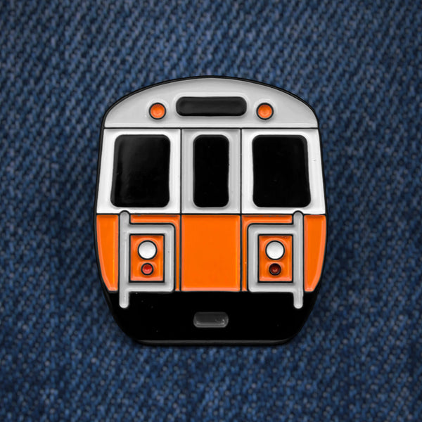 MBTA Orange Line Enamel Pin