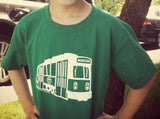 Green Line Trolley T-Shirt (Toddler/Youth)