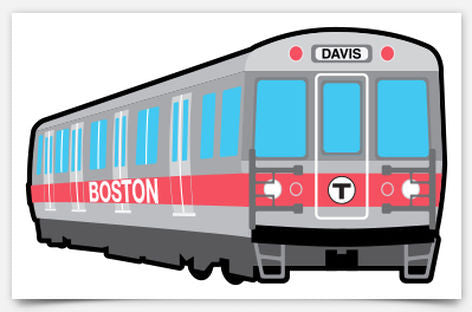 Red Line Subway Car Sticker